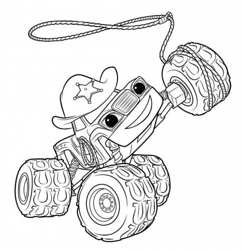 Раскраска машинки онлайн для малышей - 9